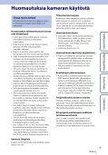 Sony HDR-AS100VB - HDR-AS100VB Guide pratique Finlandais - Page 3