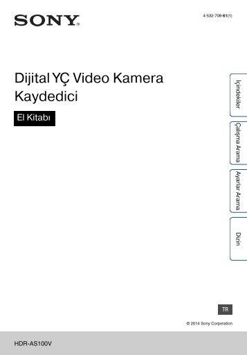 Sony HDR-AS100VB - HDR-AS100VB Guide pratique Turc