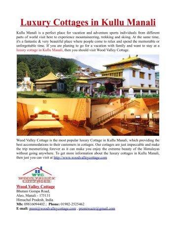 Luxury Cottage in Kullu Manali
