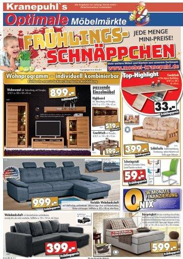 Kranepuhls optimale Möbelmärkte: Frühlings-Schnäeppchen!