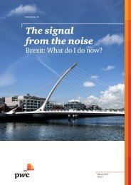 The signal from the noise