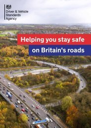 Helping you stay safe on Britain's roads