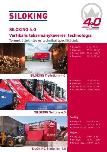 SILOKING 4.0 Vertikális takarmánykeverési technológia