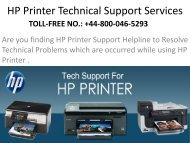 HP Printer Support Phone Number UK +448000465293