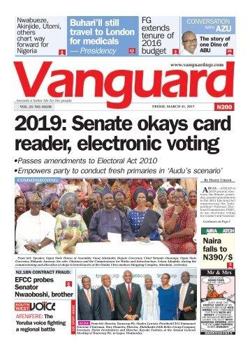 31032017 - 2019: Senate okays card reader, electronic voting