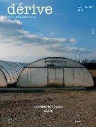 dérive - Zeitschrift für Stadtforschung, Heft 67 (2/2017), Nahrungsraum Stadt