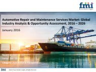 Automotive Repair and Maintenance Services Market Will hit at a CAGR of 5.6%from 2016 to 2026