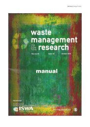 Waste Management and Research Manual - ISWA World Solid ...