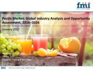 Pectin Market to Grow at a CAGR of 4.6% by 2026