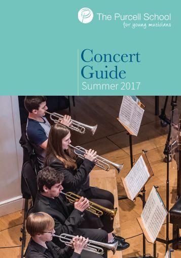 Summer Concert Guide 2017