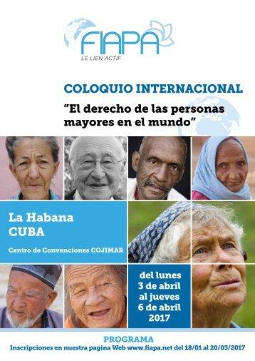 COLOQUIO INTERNACIONAL La Habana CUBA