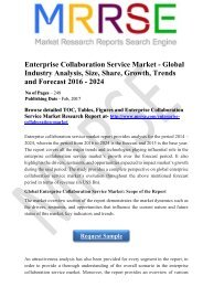 Enterprise Collaboration Service Market - Global Industry Analysis, Size, Share, Growth, Trends and Forecast 2016 - 2024