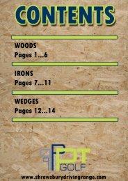 PT Golf Catalogue