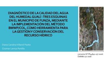 DIAGNÓSTICO DE LA CALIDAD DEL AGUA DEL HUMEDAL