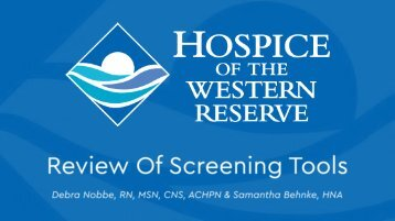 Review of Screening Tools