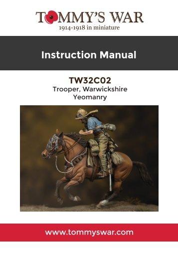 TW32C02 - Trooper, Warwickshire Yeomanry instruction booklet