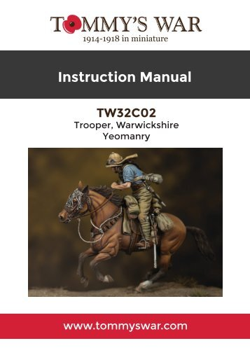TW32C02 - Trooper, Warwickshire Yeomanry instruction booklet