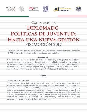 Diplomado Políticas de Juventud Hacia una nueva gestión