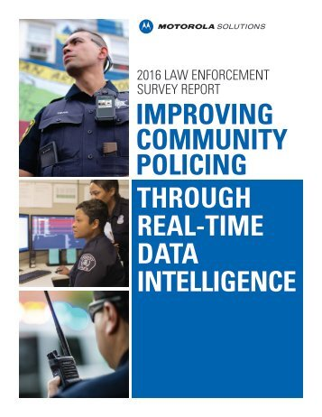 IMPROVING COMMUNITY POLICING THROUGH REAL-TIME DATA INTELLIGENCE