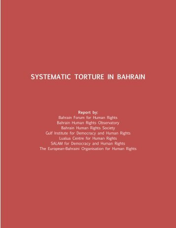 SYSTEMATIC TORTURE IN BAHRAIN