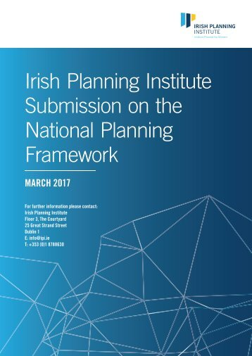 Irish Planning Institute Submission on the National Planning Framework