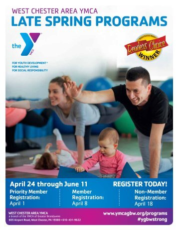 West Chester Area YMCA - Late Spring Program Guide