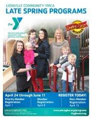 Lionville Community YMCA - Late Spring Programs