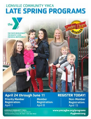 Lionville Community YMCA - Late Spring Programs