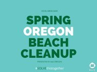 SPRING OREGON BEACH CLEANUP