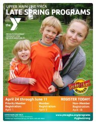 Upper Main Line YMCA - Late Spring Programs