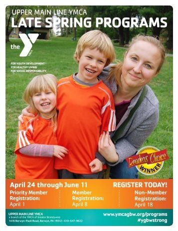 Upper Main Line YMCA - Late Spring Programs