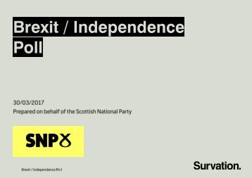 Brexit / Independence Poll