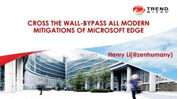 CROSS THE WALL-BYPASS ALL MODERN MITIGATIONS OF MICROSOFT EDGE