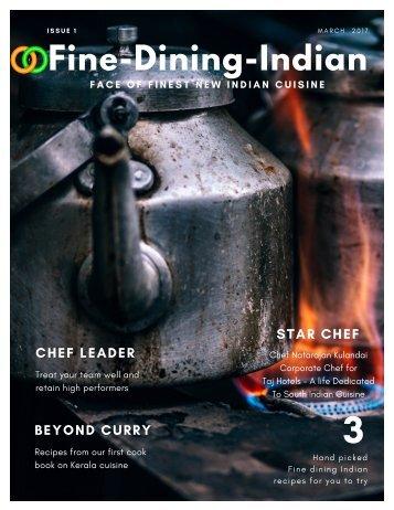 Finediningindian Food Magazine - Issue 1- April 2017