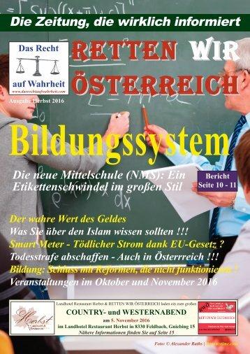 Zeitung - Das Recht auf Wahrheit - Herbst 2016 - mail-Version