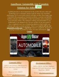 AppsBazar Automobile App Complete Solution for Seller