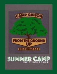 Camp Gideon Brochure 2017