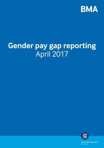 Gender pay gap reporting April 2017