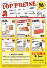 Angebote im April - Malteser Apotheke