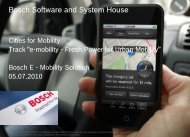 Bosch Software and Systemhouse - Cities for Mobility