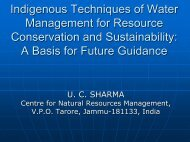 Indigenous Techniques of Water Management for Resource - AARS
