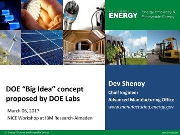 """DOE """"Big Idea"""" concept proposed by DOE Labs"""