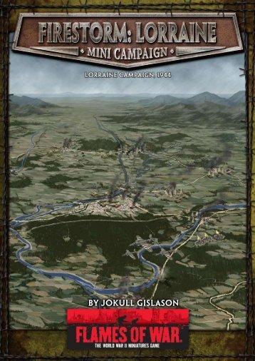 Firestorm: Lorraine Campaign - Flames of War