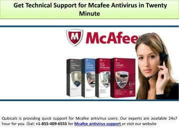 Get Technical Support for Mcafee Antivirus in Twenty Minute