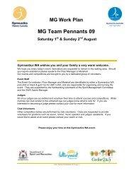 MG Team Pennants Work Plan