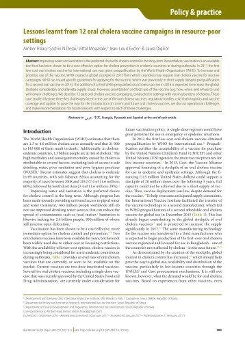 Policy & practice vaccine