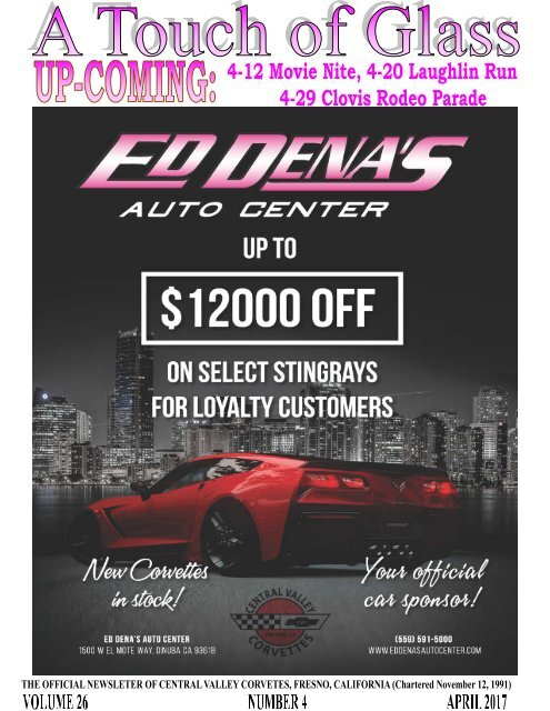 Central Valley Corvettes Newsletter - April 2017