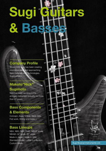 Sugi Guitars & Basses