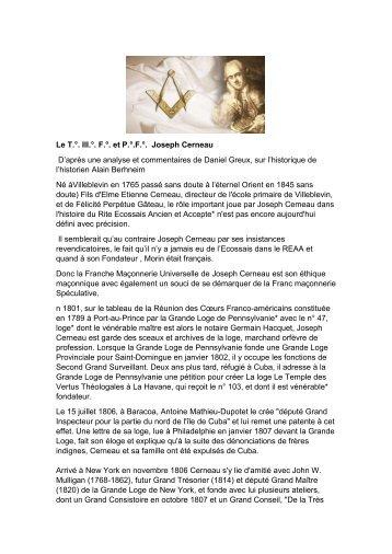 Apuntes biográficos de Cerneau