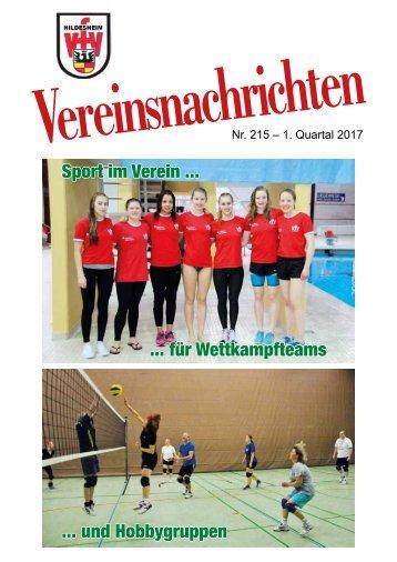 VfV Hildesheim - Vereinszeitung 1/2017